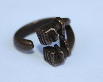 Handcuffed ring