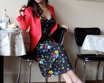 Floral 1960's LANZ dress size small
