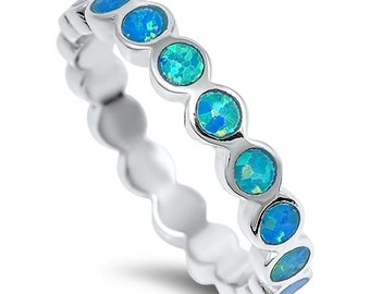 Fabulous Blue Opal ring