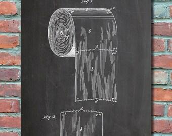 Toilet Paper Roll Patent 1891 Wall Art, Patent Print, Blueprint, Patent Poster, Plexity Prints #006