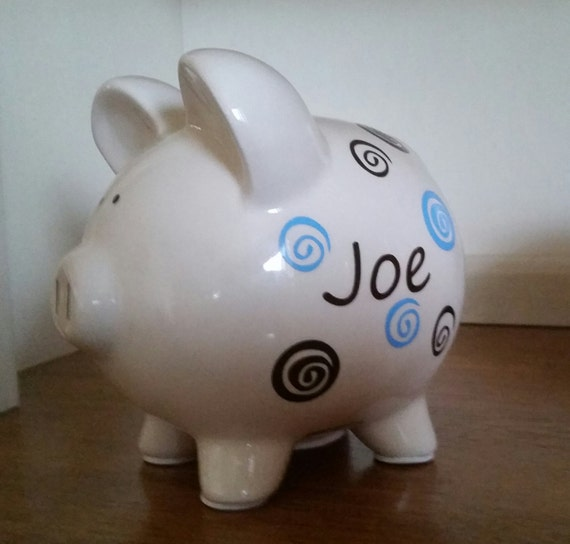 Baby Gift Piggy Bank : Personalized piggy bank baby shower gift easter