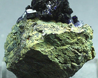 Deep blue Azurite, Morocco - Mineral Specimen for Sale
