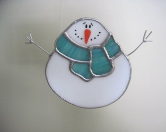 Roly Poly Stained Glass Snowman