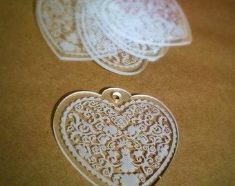 Large Acrylic Heart Pendant