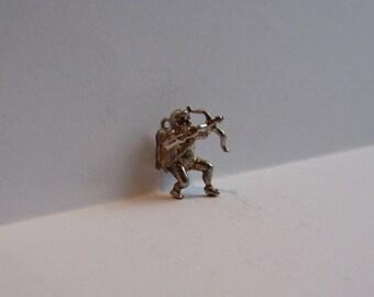 Vintage silver cupid charm