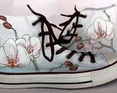 Orchid Custom Shoes Hand Painted Wedding Custom Converse