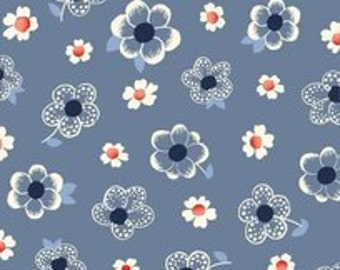Denim Tossed Flowers ...French Navy Collection