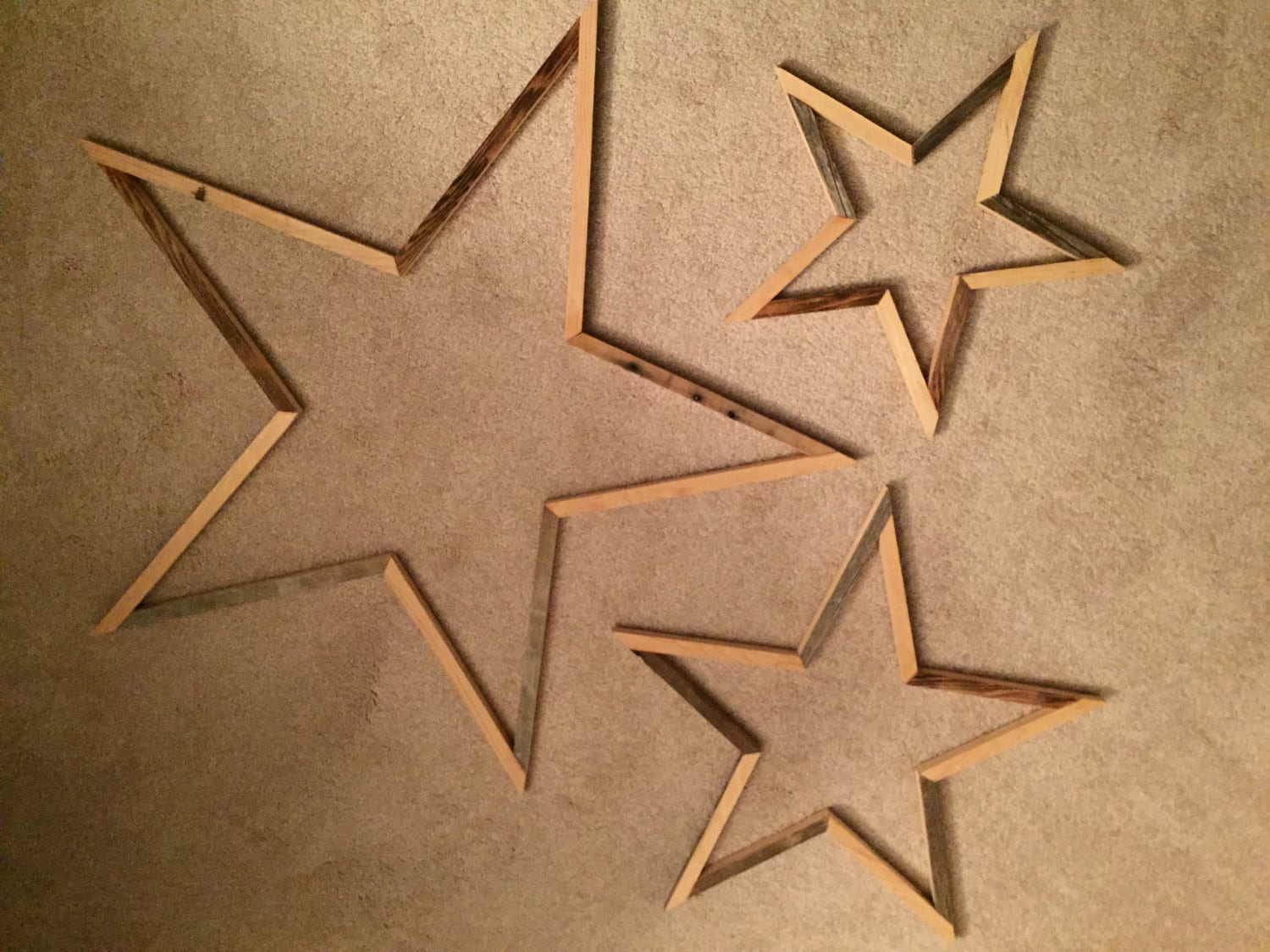 Uupcyled wood star wall art home decor by repurposedbyrob on etsy - Stars for walls decorating ...