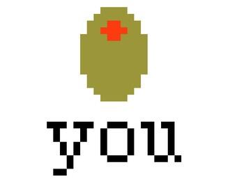 Olive You PDF Cross Stitch Pattern
