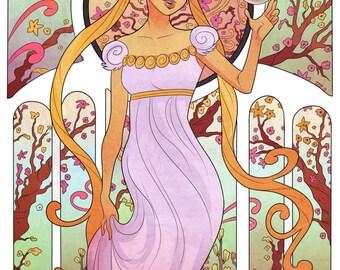 Sailor Moon Art Noveau Print