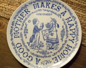 Vintage Collector Mother Plate