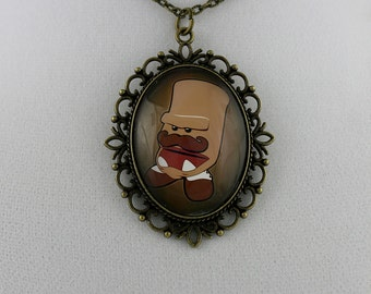 """Foe the Destroyer: """"Drawn"""" - Cameo Necklace"""