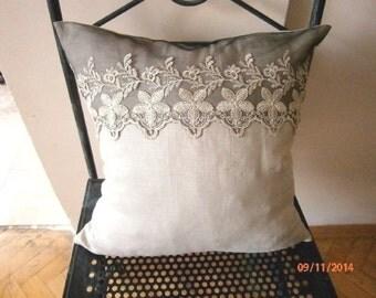 Lace Pillow Cover  Lace Pillow Case Decorative Pillow Case Lace Throw Pillow Cover Beige Cushion Cover  Sofa Pillow Case 16 İnch. 40cm
