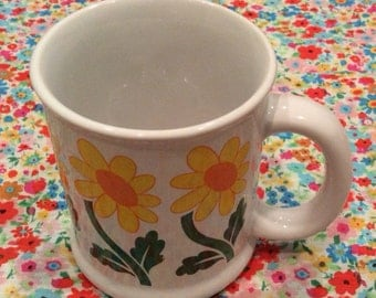 Flower Power 1960's/70's Coffee Mug