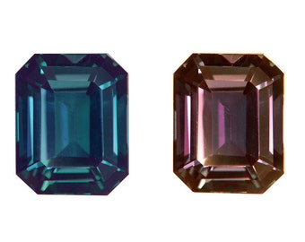 Lab Created Pulled Synthetic True Alexandrite Color Change Octagon 6x4 to 30x20