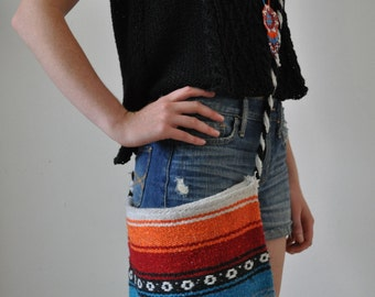Handmade Mexican Crossbody Messenger Bag