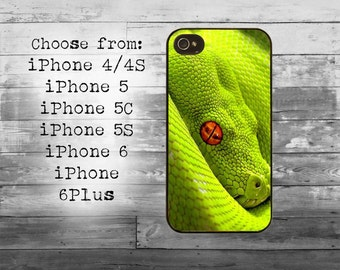 Green snake eye cover - iPhone 4/4S, iPhone 5/5S/5C, iPhone 6/6+, iPhone 6s/6s Plus case - Snake skin iPhone case