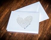 XO Greeting Card - Letterpress Card, Handmade Greeting Card, Engagement Card, Wedding Card, Love Greeting Card