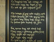 The Hobbit Quote, Gold Calligraphy, Handwritten.