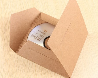 50pcs 13*13*0.4CM Kraft paper packaging boxes CD/VCD/Photo packaging boxes/cases