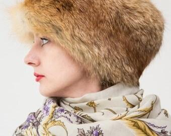 Fox Fur Hat Soviet Fashion Russian Trend 70s Fourrure de Renard Chapeau Sombrero de Piel de Zorro Cappello di Pelliccia di Volpe