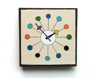 Mid Century Modern Design, Clocks, Chairs, Vehicles, Small original paintings on wood