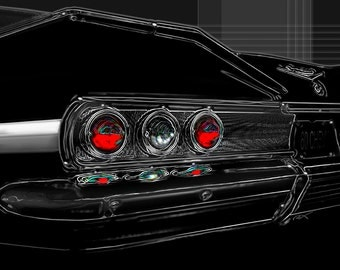 1960 Chevy Impala...gallery wrapped stretched canvas or luster photo paper print, car art, 60, classic, car, chevrolet, automobile