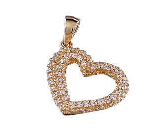 White Gold 14k heart pendant,