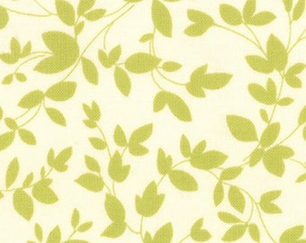 Oh Deer by MoMo for Moda Fabrics   #16075-12    Green Leaves on Cream