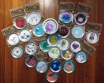 Wide Mouth Mason Jar lids. A fun and unique way to personalize your day.