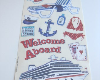 Cruise ship stickers // Vellum stickers // Vacation // Cruise ship // Bon Voyage // Welcome aboard