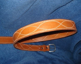 Handcrafted Leather Belt with Stitched design