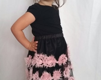 Pink and Black rosette skirt