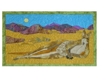 A Kangaroos Rest is a quilted applique pattern for a wall hanging