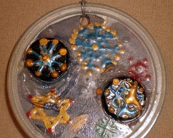 Round Snowflakes Ornament