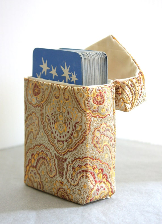 Tarot Bags Tarot Cards Cloths More: Arcana Case Handmade Tarot Bag In Solar Gold Brocade By
