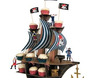 Pirate Party  | Pirate Ship Cupcake Centerpiece