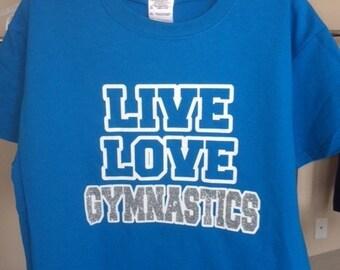 Girl's Live Love Gymnastics Tee, Gymnastics Gifts