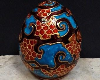 "Dragon Egg ""Magical Dragon"" ceramic egg"