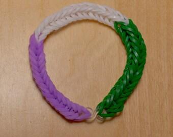 Genderqueer Pride Flag Loom Bracelet