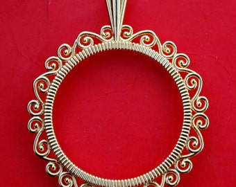 Gold Plated Coin Bezel Mount Frame Settings Fit US Quarters and Other 24mm ~ 24.3mm Diameter Coins