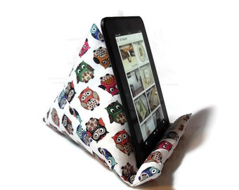 Owls fabric Tablet stand - iPad stand iPhone Stand  Kindle stand - gift idea