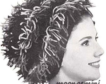 Knitting Pattern Hat Turban Wig in Two Looks Vintage PDF Instant Download