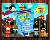Super Hero Invitation - Kids Super Hero Birthday Invitation printable