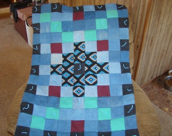 Denim Patchwork Chairback Quilt
