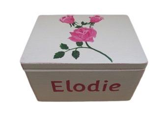 Handmade Personalized Roses flowers Large Memory box