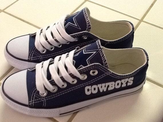 dallas cowboys s tennis shoes by sportzshoeking on etsy