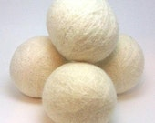Wool Dryer Balls - Set of 6 pieces, white color