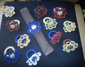 6 napkin rings in the form of flower