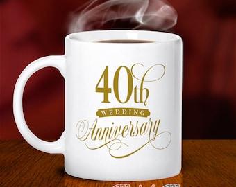 40th Wedding Anniversary, 40th Wedding Gift, Ruby Wedding, 40th Anniversary, Wedding Anniversary, 40 Year Anniversary, 40th Wedding Idea